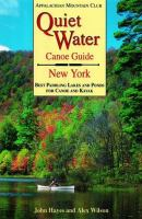 Quiet Water Canoe Guide, New York