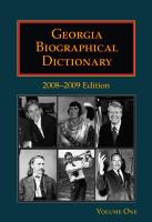 Georgia Biographical Dictionary