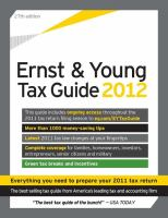 The Ernst & Young Tax Guide 2012
