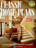 Classic Home Plans