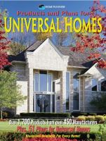 Products And Plans For Universal Homes