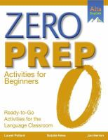 Zero Prep for Beginners