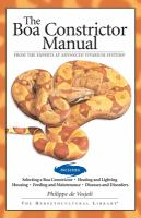 The Boa Constrictor Manual