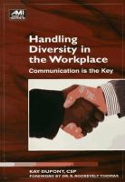 Handling Diversity in the Workplace