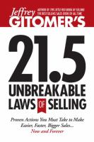 21.5 Unbreakable Laws of Selling