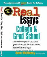Real Essays for College & Grad School