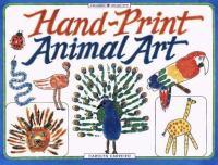 Hand-print Animal Art