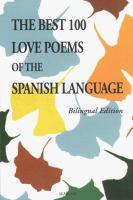 The Best 100 Love Poems of the Spanish Language