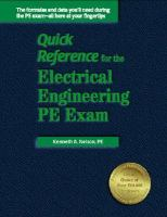 Quick Reference for the Electrical Engineering PE Exam