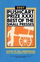 Pushcart Prize XXXI, 2007