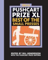 Pushcart Prize XL