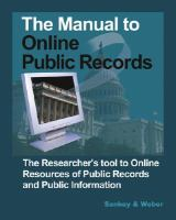 The Manual to Online Public Records
