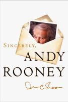 Sincerely, Andy Rooney