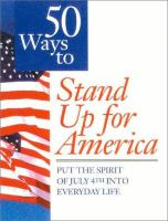50 Ways to Stand up for America