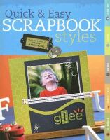 Quick & Easy Scrapbook Styles