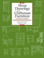 Shop Drawings for Craftsman Furniture