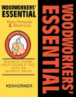 Woodworkers' Essential Facts, Formulas & Short-cuts