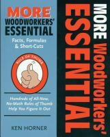 More Woodworkers' Essential Facts, Formulas & Short-cuts