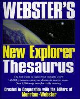 Webster's New Explorer Thesaurus