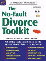 The No-fault Divorce Toolkit
