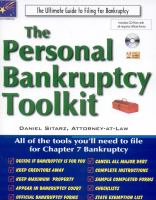 The Personal Bankruptcy Toolkit