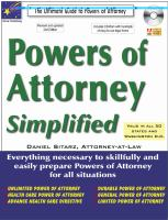 Powers of Attorney Simplified
