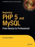 Beginning PHP 5 and MySQL