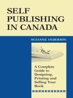 Self Publishing in Canada