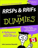 RRSPs and RRIFs for Dummies