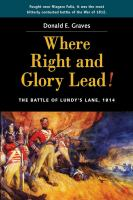 Where Right and Glory Lead!