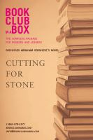 Bookclub-in-a-box Discusses Cutting for Stone, by Abraham Verghese