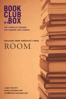 Bookclub-in-a-Box Presents the Discussion Companion for Emma Donoghue's Novel Room