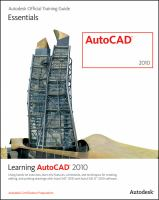 Learning AutoCAD 2010