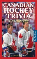 Canadian Hockey Trivia