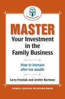 Master your Investment in the Family Business