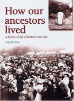 How Our Ancestors Lived