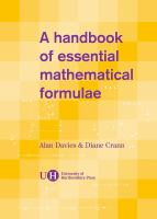 A Handbook of Essential Mathematical Formulae