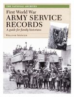 First World War Army Service Records