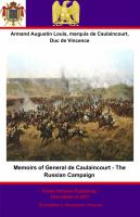Memoirs of General De Caulaincourt