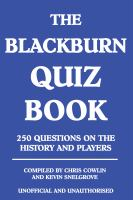The Blackburn Quiz Book