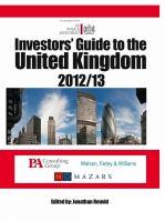 Investors' Guide to the United Kingdom 2012-13