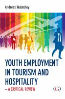 Youth Employment in Tourism and Hospitality
