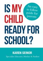 Is My Child Ready for School?