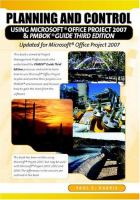 Planning and Control Using Microsoft Project and PMBOK® Guide, Third Edition