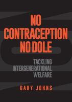 No Contraception No Dole