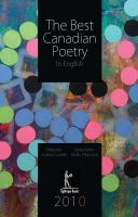 The Best Canadian Poetry in English, 2010