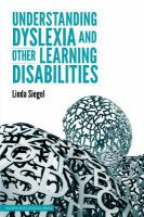 Understanding Dyslexia and Other Learning Disabilities