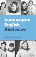 Inuinnaqtun English Dictionary