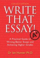 Write That Essay!