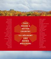 They desire a better country : the Order of Canada in 50 stories = Ils désirent une patrie meilleure : l'Ordre du Canada en 50 histoires